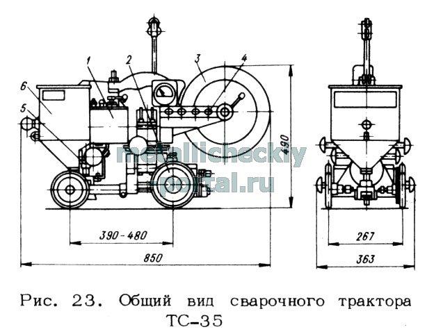 Общий вид трактора показан на