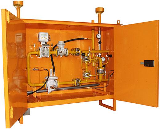 шкафы газовые ГРПШ-04-2У1 с двумя регуляторами РДНК-400