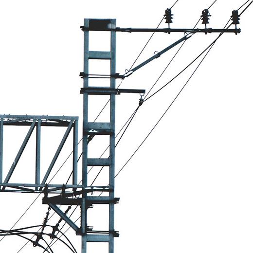 электротехническое оборудование и опоры контактной сети