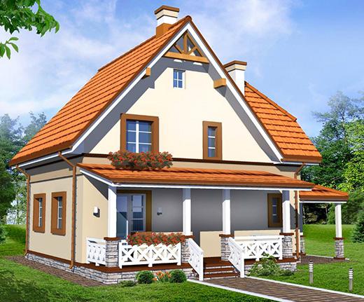 каркасные дома с мансардой