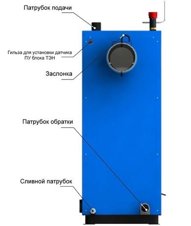 Пиролизный твердотопливный котел Zota MIX 20 КВт