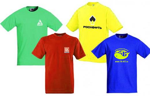 печать символики на футболках