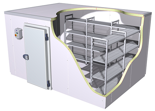 монтаж промышленных холодильных камер