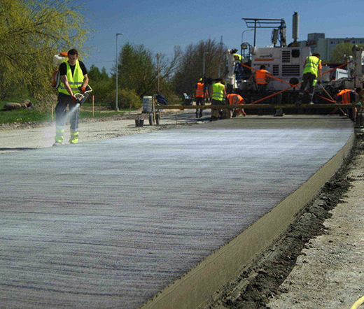 бетонное основание для асфальтирования дороги