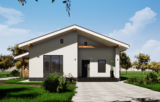 проекты домов из газобетона в классическом стиле